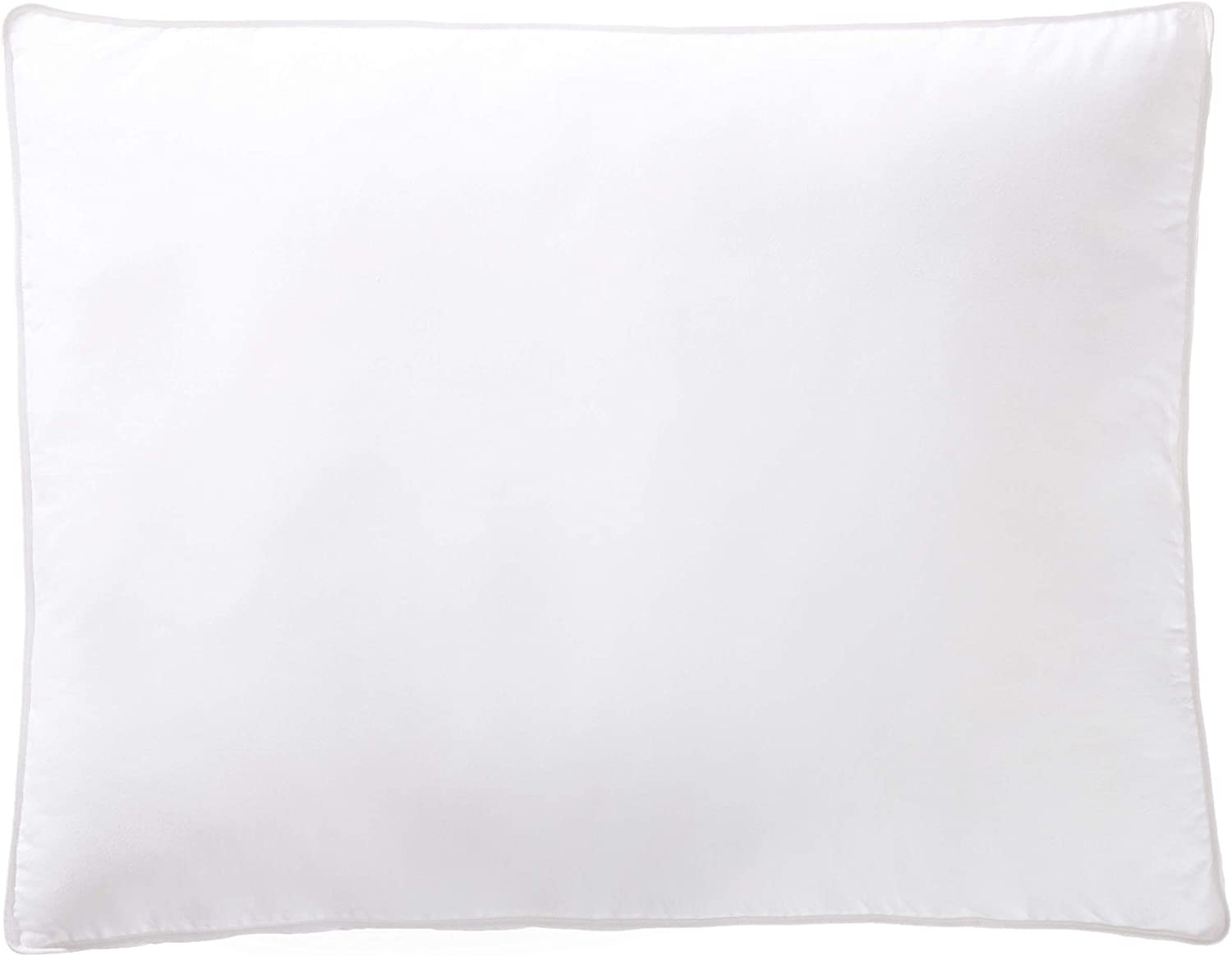 AmazonBasics Down-Alternative Gusseted Pillows with Cotton Shell - Pack of 2, Queen