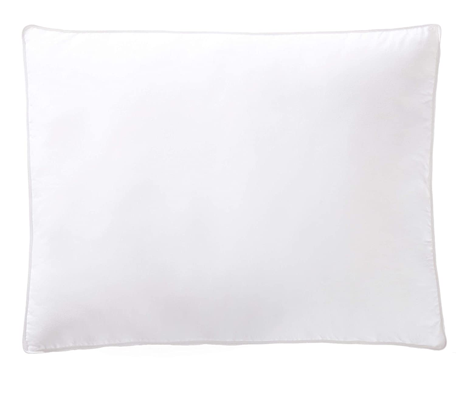 AmazonBasics Down-Alternative Gusseted Pillows with Cotton Shell - Standard, 2-Pack