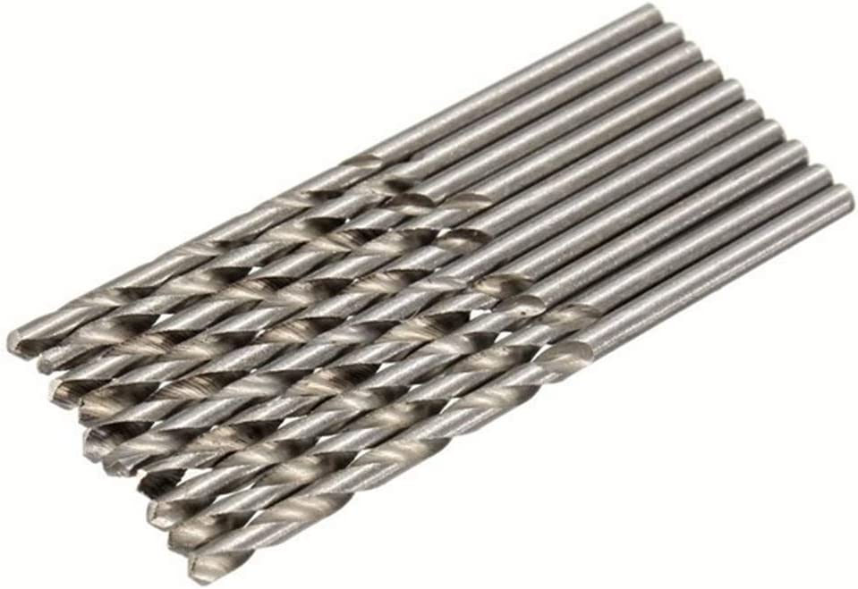 Doolland 10pcs HSS forets en acier haute vitesse 0.5mm foret /à queue cylindrique