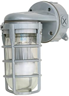 Woods L1707SVCH Traditional 100W Incandescent Weather Industrial Light Wall Mount Chrome