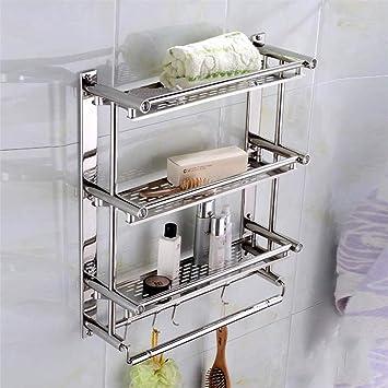 OUNONA Ba/ño Estante Ducha Orgainzer Basket Estante de Alambre Estante de Almacenamiento Cocina de Pared Blanco