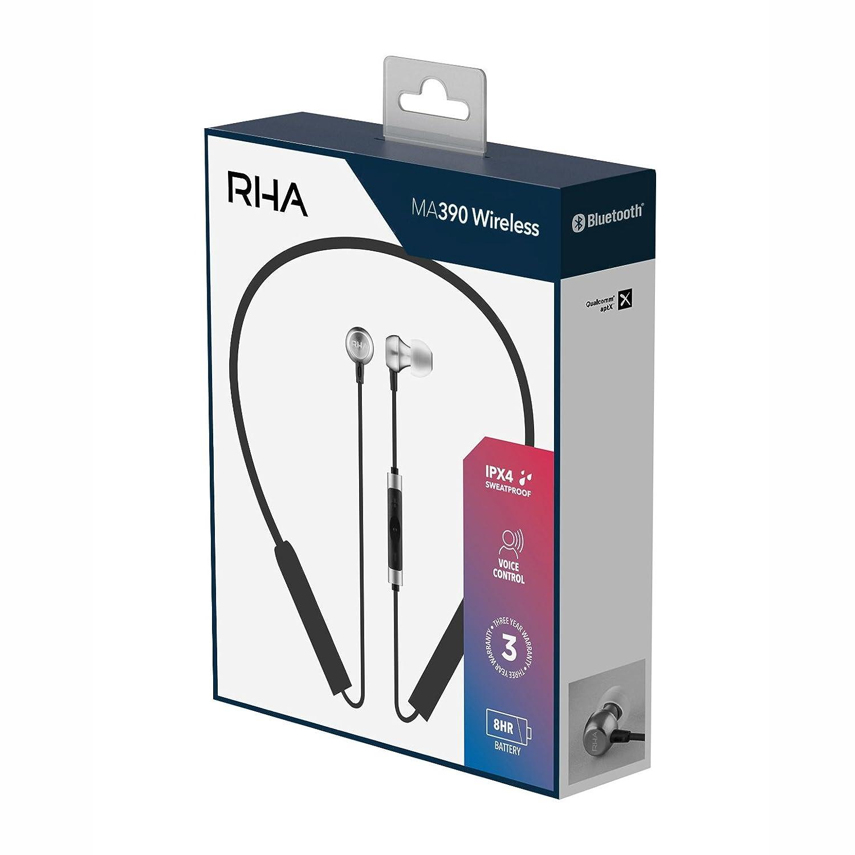 Auriculares intrauditivos inalámbricos RHA MA390: Aislamiento de Ruido a Prueba de Ruido Auriculares Bluetooth: Amazon.es: Electrónica