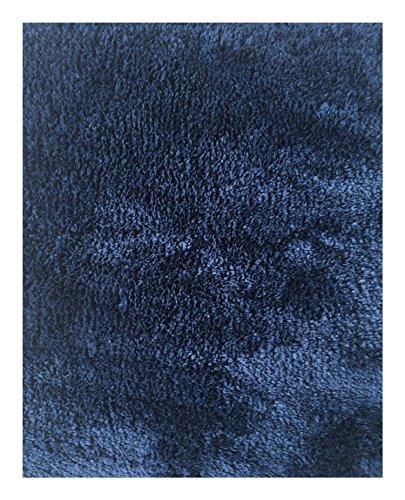 Mohawk Home Cut to Fit Royale Velvet Plush Bath Carpet, Medieval Blue, 5 6 Feet ()