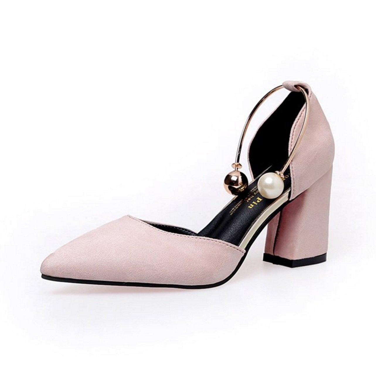 Scarpe da donna in pelle PU Summer Basic Pump Heel Casual Nero Beige rosa Wine Red Burgundy ( Color : Red wine , Dimensione : 37 )