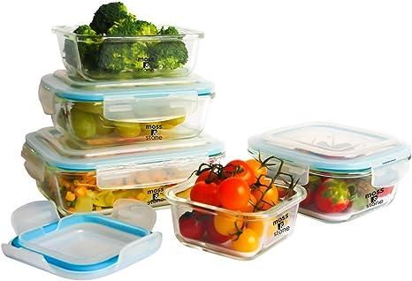 10 Container Food Storage Set ~ BPA Free Freezer Microwave Dishwasher Safe
