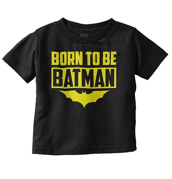 Born to Be Batman Funny Cute Baby Nerd Superhero DC Comic Infant Toddler T Shirt