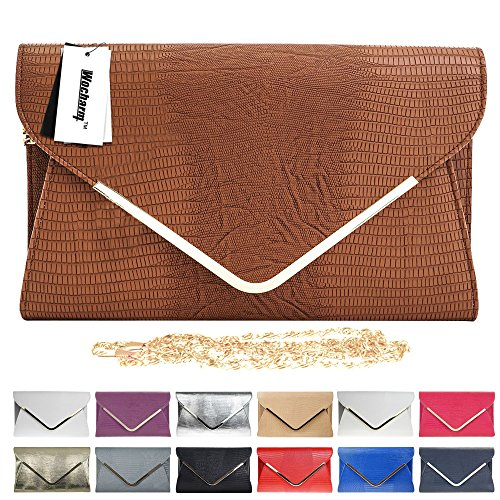Red Party Bag Envelope Womens Navy White Evening Purple Handbag Ladies Wocharm Ivory Croc Grey Clutch Blue Black Gold 8AfxH
