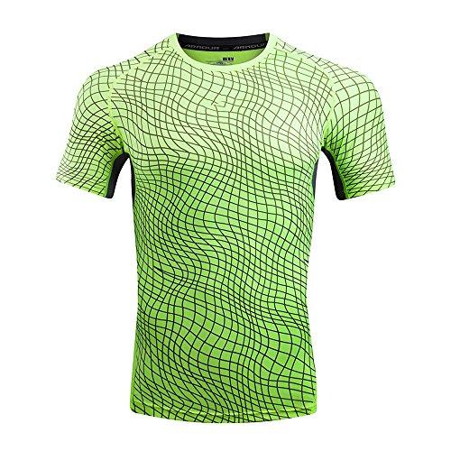 T Shirts for Men, MISYYA Color Match T Shirt Breathable Sweatshirt Sport Undershirt Muscle Tank Top Tee Gifts Mens Tops Green by MISYAA (Image #3)