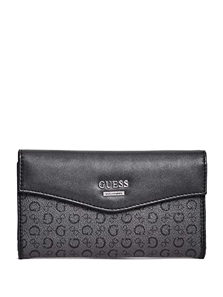 Amazon.com: Guess Factory Diem Logo cartera delgada para ...