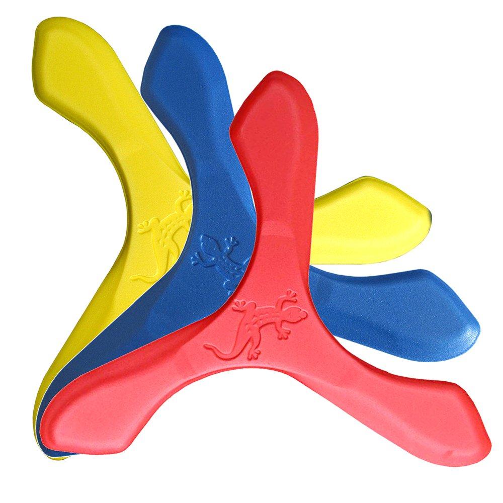 LMI ET FOX LMI Fox–Boomerang Outdoor Game, Jay D, Foam, Yellow, Blue and Red