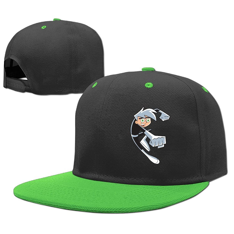 Cool Danny Phantom Logo Kids Flat Bill Baseball Cap Boys Girls Hat Snapback  One Size .