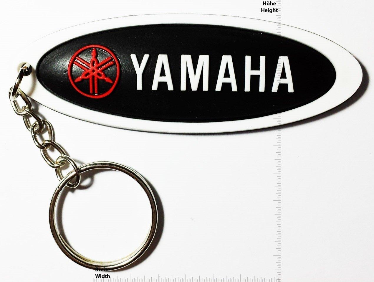 Keychains Llavero – Yamaha – Long – White Black – Motocross – Motorcycle – Motorbike – Skater – Scooter – Sport – Key Ring – Kautschuk rrubber Keyring ...