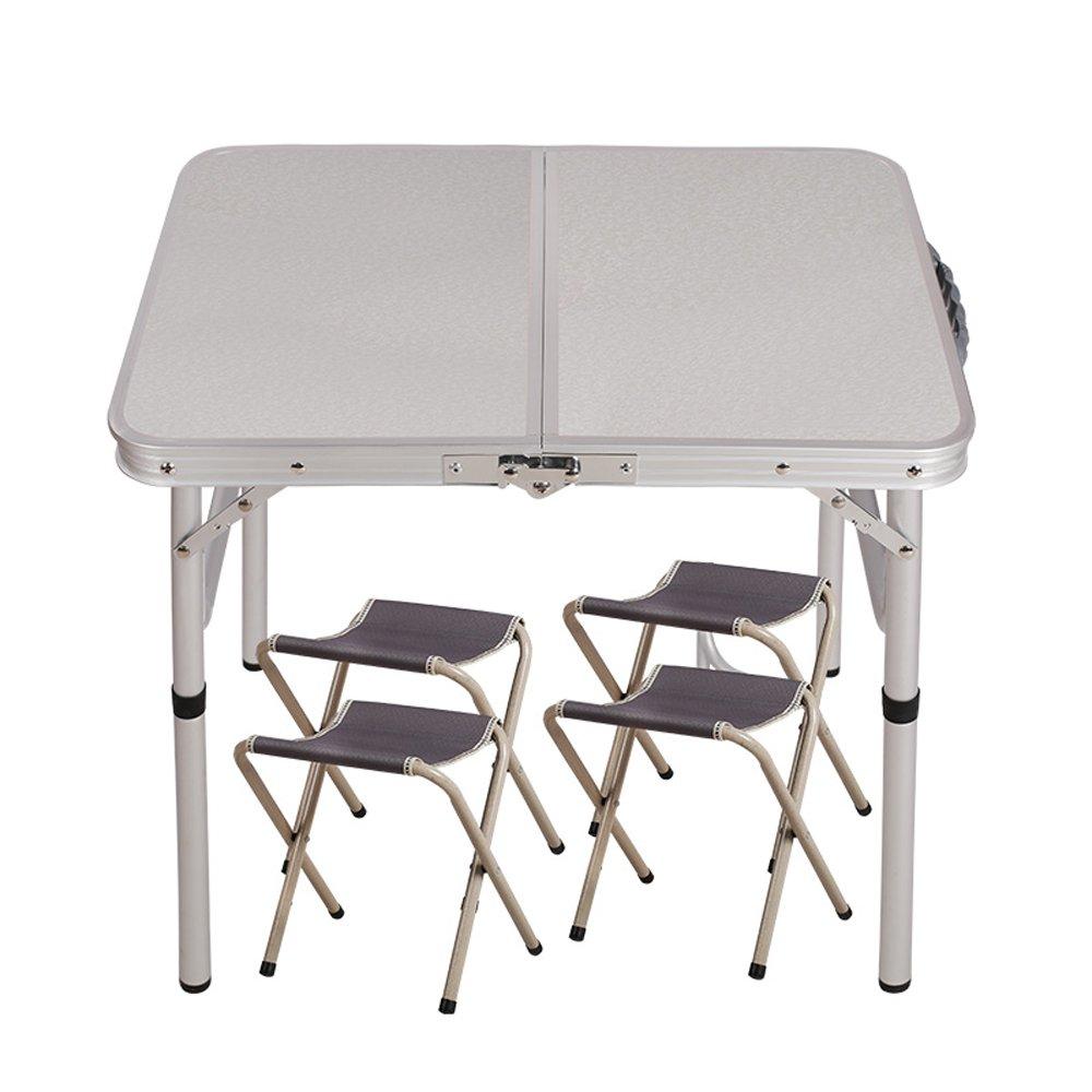 屋外折りたたみテーブル屋外ポータブルアルミ合金展示テーブルピクニック学習テーブルシンプルなデスク ( 設計 : 2 ) B078Z8YS21   2
