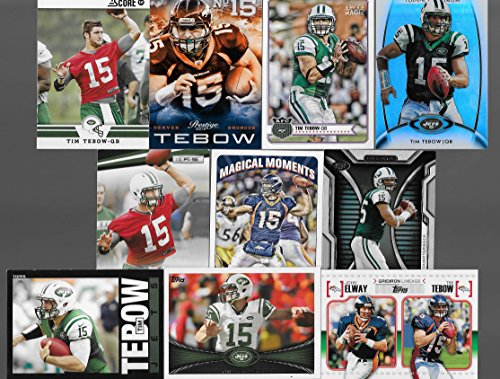 Broncos Display Cases (Tim Tebow Lot of 10 Football Cards - Denver Broncos, New York Jets - Stored in a Protective Plastic Display Case!!)