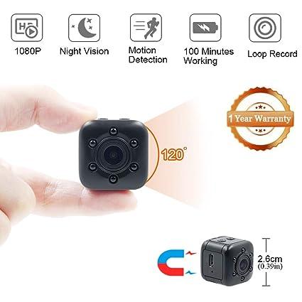 Mini Cámara Espía LXMIMI 1080P Mini Cámara Oculta Portátil Gran Angular con Detección de Movimiento y