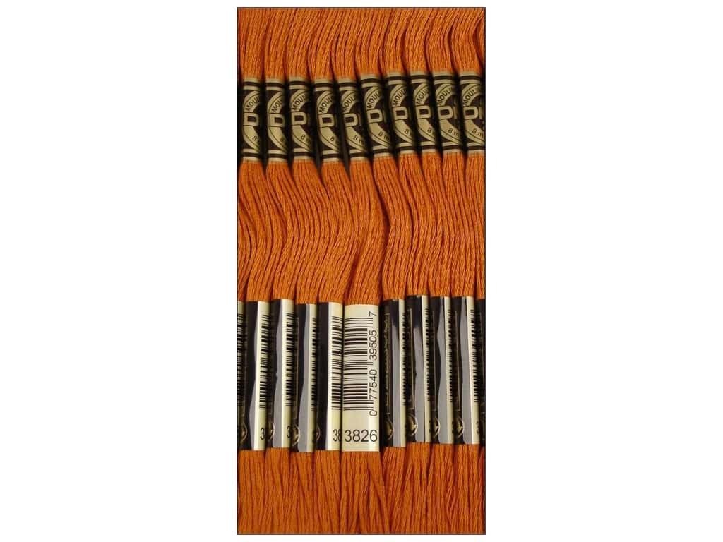 Bulk Buy 12-Pack DMC Thread Six Strand Embroidery Cotton 8.7 Yards Golden Brown 117-3826