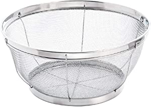 Mesh Colander Strainer Basket,9.6Inch Stainless Steel Mesh Colander,Kitchen Food Mesh Colander for Pasta,Berry,Veggies,Fruits,Noodles,18/8 Stainless Steel