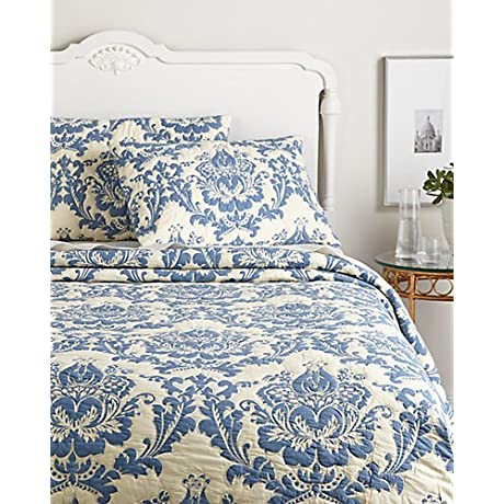 Amity Home Dorie Quilt Set King Blue