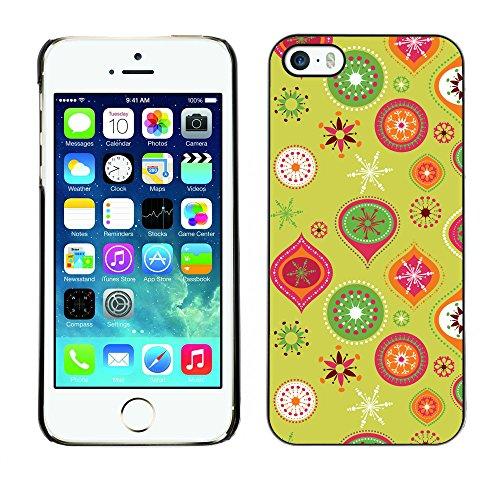 Hülle Case Schutzhülle Cover Premium Case // V00002716 Weihnachtsmuster // Apple iPhone 5 5S 5G