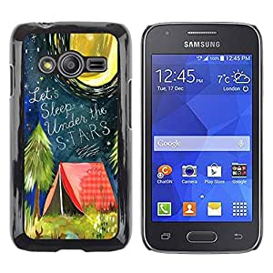 Paccase / SLIM PC / Aliminium Casa Carcasa Funda Case Cover para - Tent Quote Forest Night Moon - Samsung Galaxy Ace 4 G313 SM-G313F