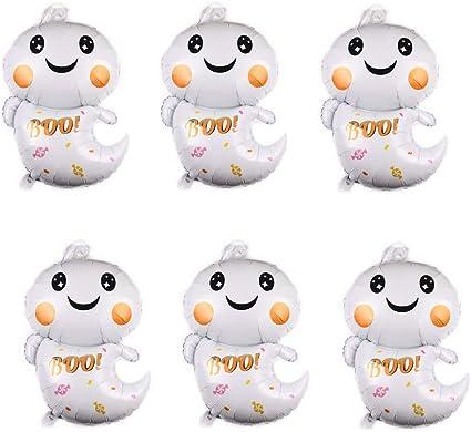 6 Globos De Papel De Aluminio Para Halloween Diseño Fantasma Globos De Mylar Para Decoración De Fiestas De Halloween Toys Games