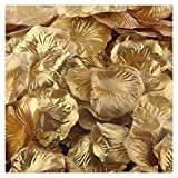 Heddi 1000pcs Gold Silk Rose Petals Artificial Flower Petals for Wedding Party Vase Decor Bridal Shower Favor Centerpieces Confetti bouquet