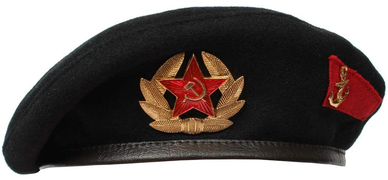 Marines Russian/Soviet Military Black Beret hat (54 (US-6 3/4))