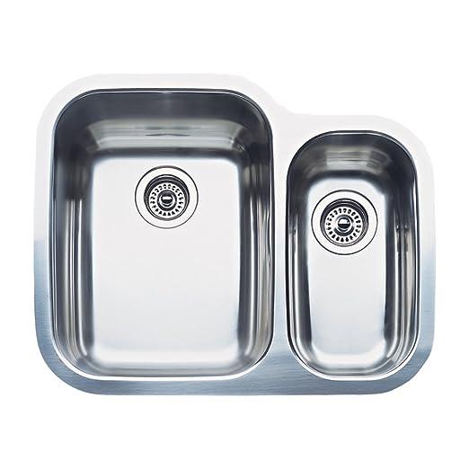 Amazon.com: Blanco 440163 Supremo doble lavabo acero ...
