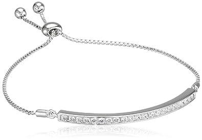 Hot Diamonds Women's 925 Sterling Silver Diamond Bracelet of Length 19 cm MoOHS