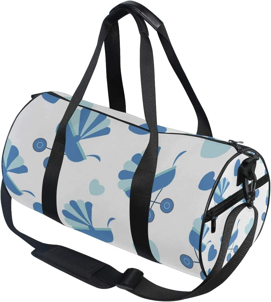 Bolsa de viaje deportiva para gimnasio, bolsa de viaje con patrón de carritos de bebé, equipaje para hombres y mujeres