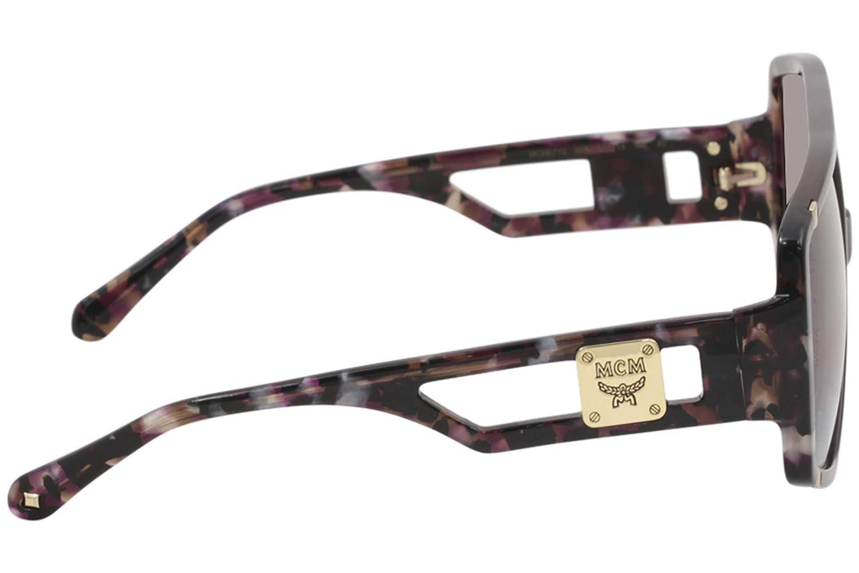 052537806c Amazon.com  MCM Sunglasses MCM671S MCM 671 S 613 Wine Marble Wine Square  Sunglasses 61mm  Clothing
