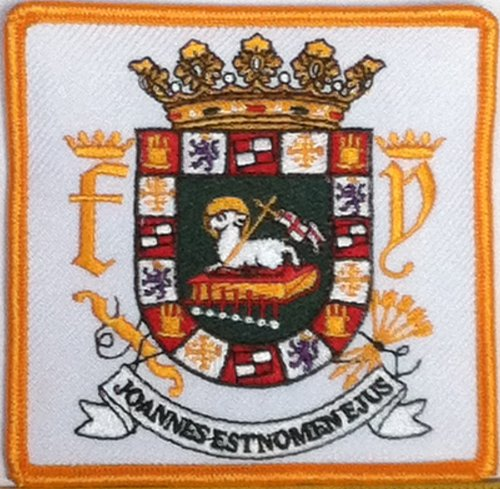 Puerto Rico Escudo Embroidery Iron-on Patch Emblem Gold Border