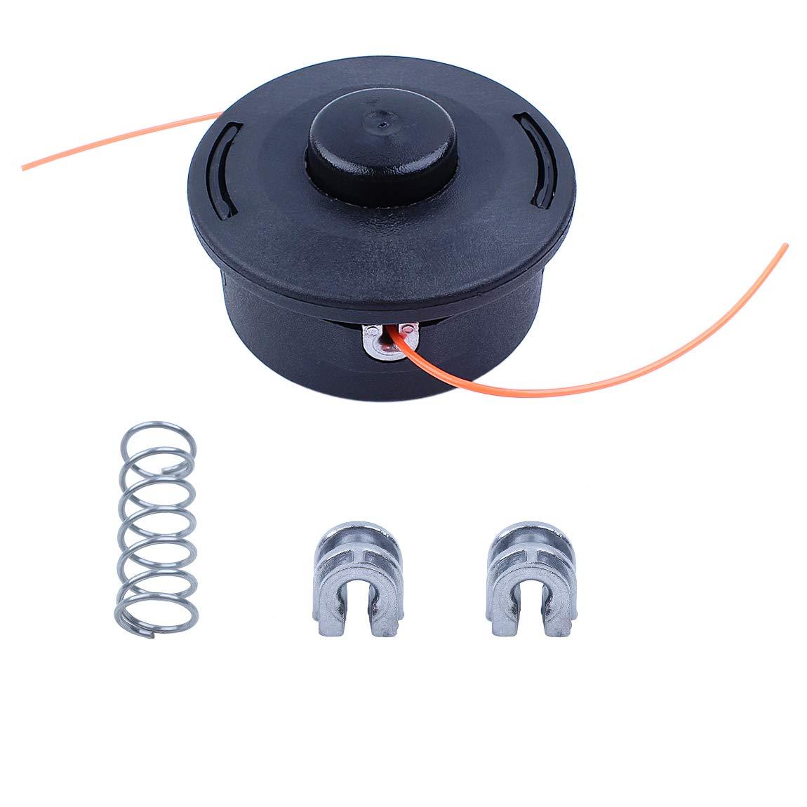 Haishine Trimmer Head Spring Juego de Casquillos para Ojales para STIHL FS44 FS55 FS70 FS80 FS85 FS90 FS100 FS110 FS120 FS130 FS200 Recortadora