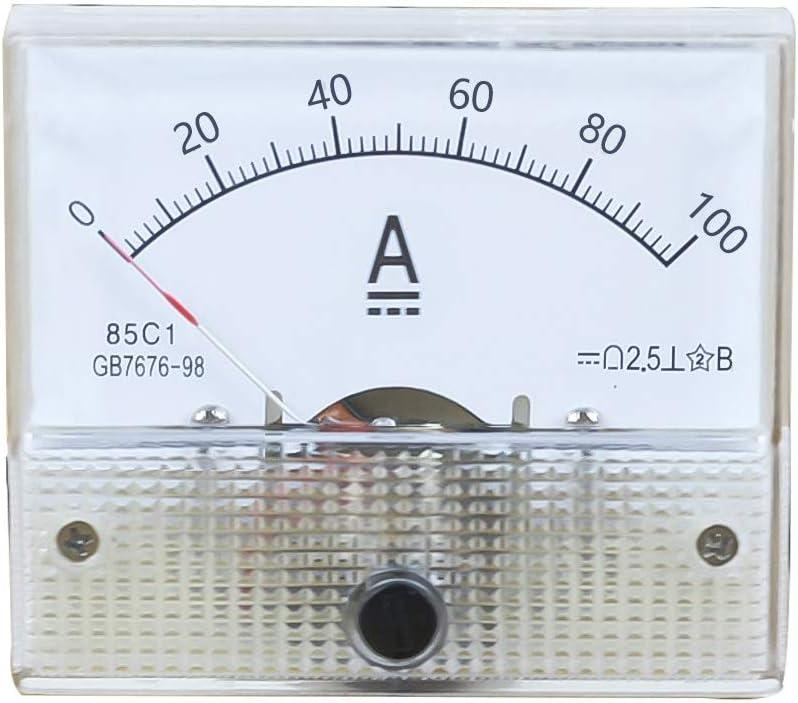 Rainbabee Zeiger Amperemeter Dc Kunststoff Analog Panel Spannungsmesser Voltage Meter 1a 2a 3a 5a 10a 20a 50a 100a Mechanische Strommessung 1 Stücke Rainbabee Auto