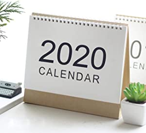 "Genleas Flip Monthly Desktop Calendar 2019-2020 Creative Useful Schedule Planner Annual Calendar for School/Classroom/Home 6.5""x 5.9"" (S)"