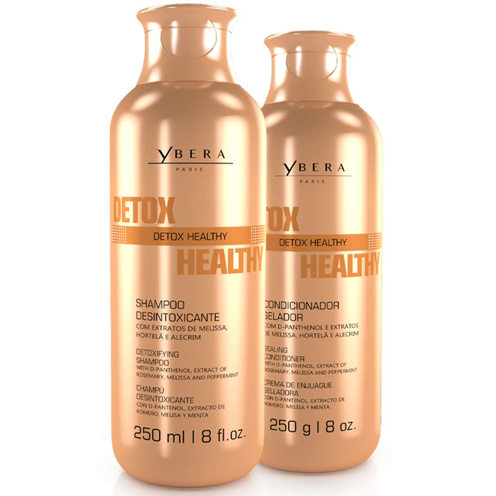 Ybera Professional Detox Healthy DUO | Refreshing Care for Oily & Dandruff Scalp | Prevent Hair Loss | Stimulate Growth & Renews Damaged Hair | Shampoo 8.4 Oz & Conditioner 8.8 Oz by YBERA PARIS