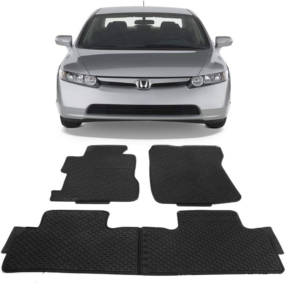 Floor Mat Fits 2006-2011 Honda Civic /2007 2008 2009 2010 OEM Factory Fitment Car Front /& Rear Nylon Car Floor Carpets Carpet liner by IKON MOTORSPORTS