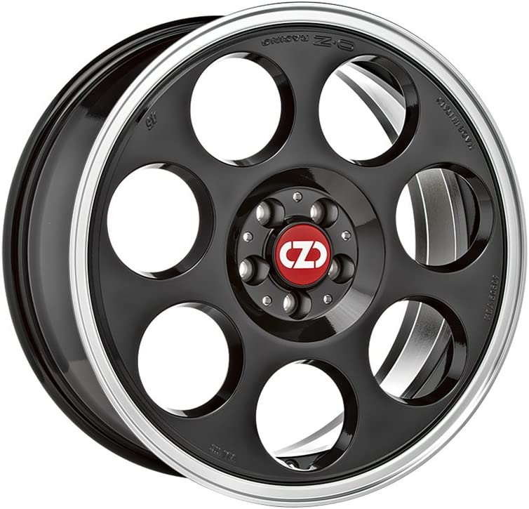 OZ ANNIVERSARY 45 Black Machined Lip 7x17 ET45 5x114.3 Hub Bore 75 Alloy Rims