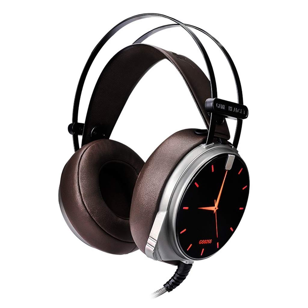 OEAR コンピューター ヘッドマウント サブウーファー ノイズリダクション ゲームヘッドセット 7.1チャンネル エスパート 音声 有線マイク ステレオサラウンドデスクトップ USBインターフェース   B07Q3GHJRL