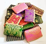 24 x Thailand rayon silk coin purse, wallet, credit cards, identification name Mone mixed color- gifts for Thailand tourism business souvenirs.