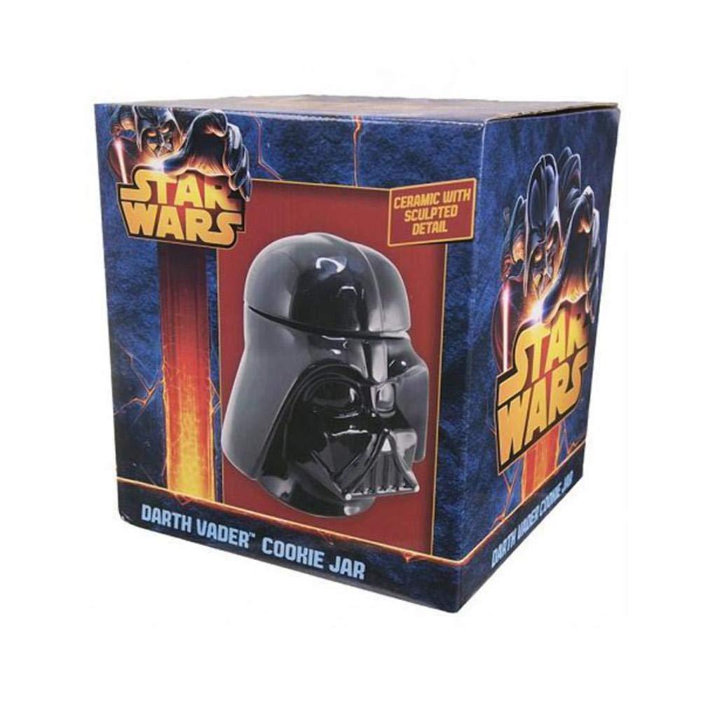 Star Wars Tarro Galletas de cer/ámica Color Negro con Forma de Cabeza de Darth Vader