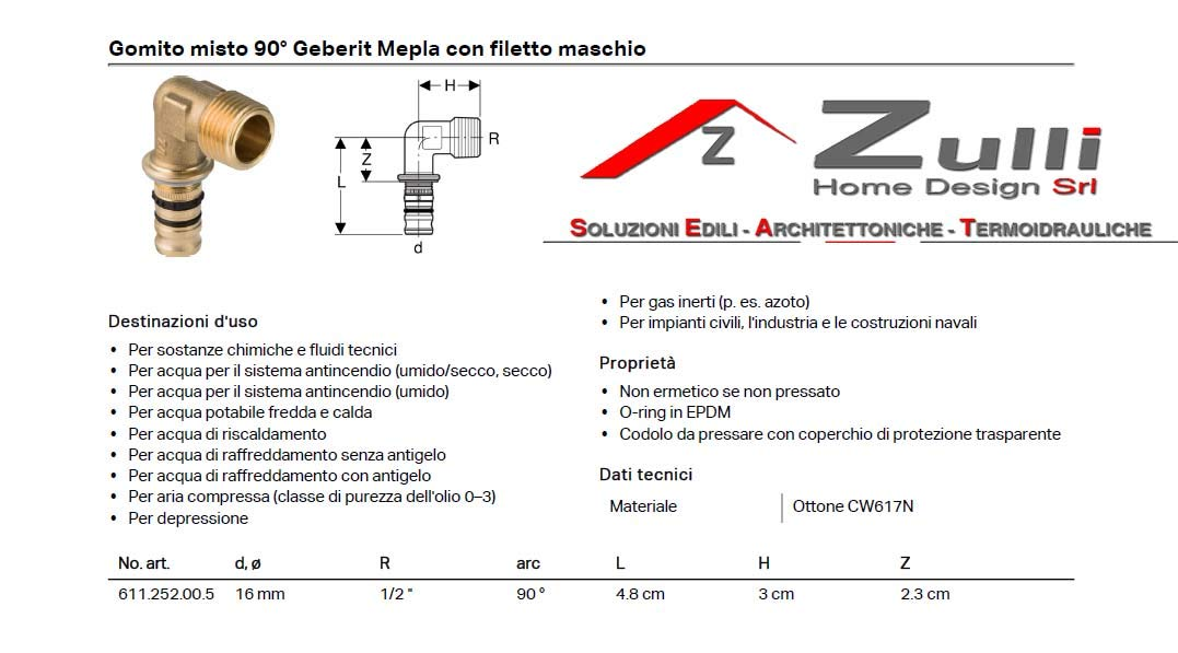 Geberit Systeme Steckdose/ /Mepla Armaturenplatte gom Pres.90g Masc.16/x 1//2/