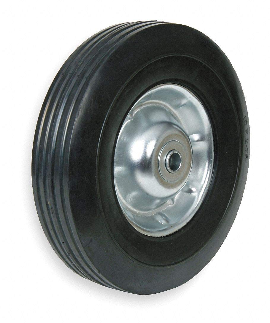 12'' Light-Duty Ribbed Tread Semi-Pneumatic Wheel, 140 lb. Load Rating