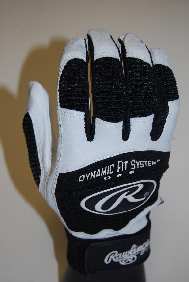 Rawlings pbg950tミディアムブラック/ホワイトMLB Pro Batting Glovesペア大人用 B01G7XSYSS