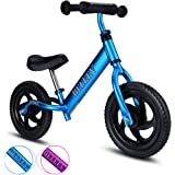 BELEEV Balance Bike(4.3 lbs) Aluminum Alloy, No Pedal Toddler Bike, Adjustable Handlebar and Seat, 110lbs Capacity for Kids Age 18 Months to 5 Year Old