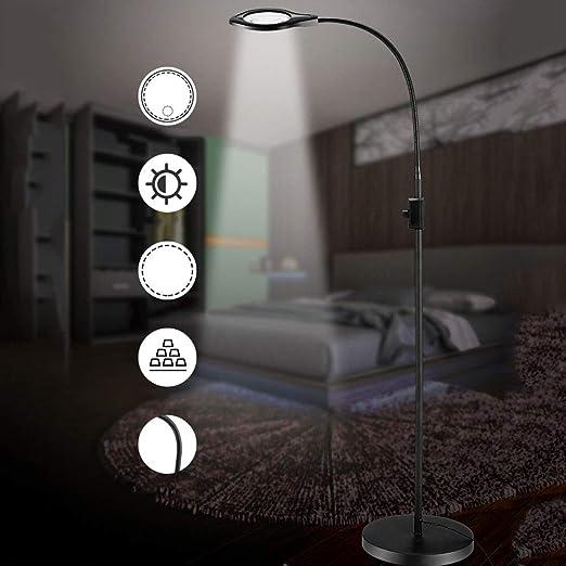 Hmyloz LED Aumentador Suelo Lámpara 2X / 4X Doble Lente Altura ...