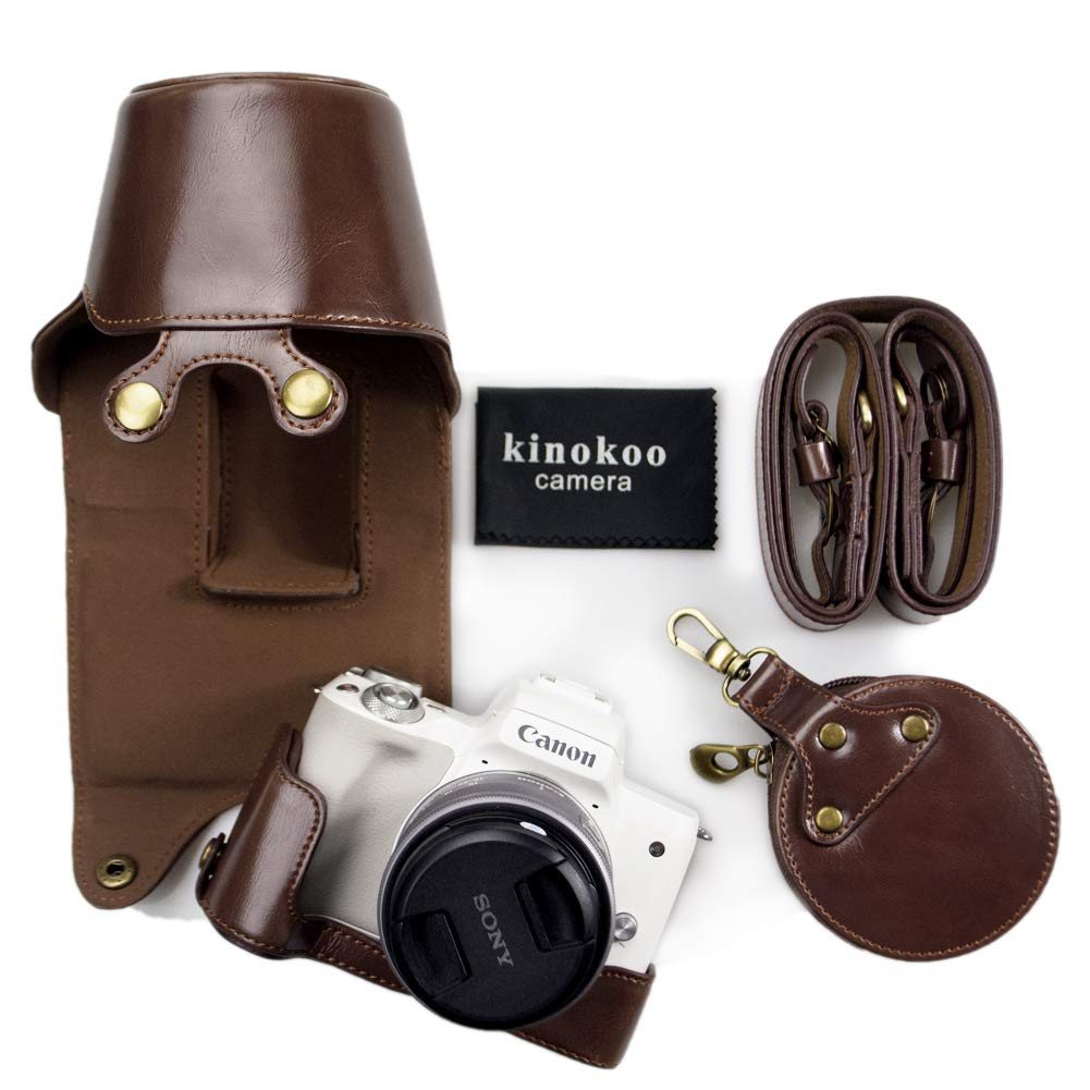 kinokoo - Funda de Piel sintética para Canon EOS M50 y ...