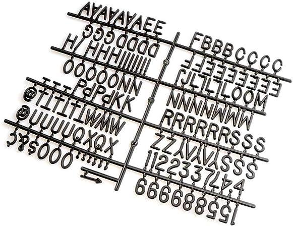 Pack Letras Tablero Fieltro Intercambiables Letters 149 + Emoji 8 + Palabras 12 + Numeros 21 - Alfabeto Simbolos Retro Color Blanco/Negro: Amazon.es: Hogar
