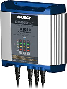 Guest 2731A ChargePro On-Board Battery Charger 30A / 12V, 3 Bank, 120V Input