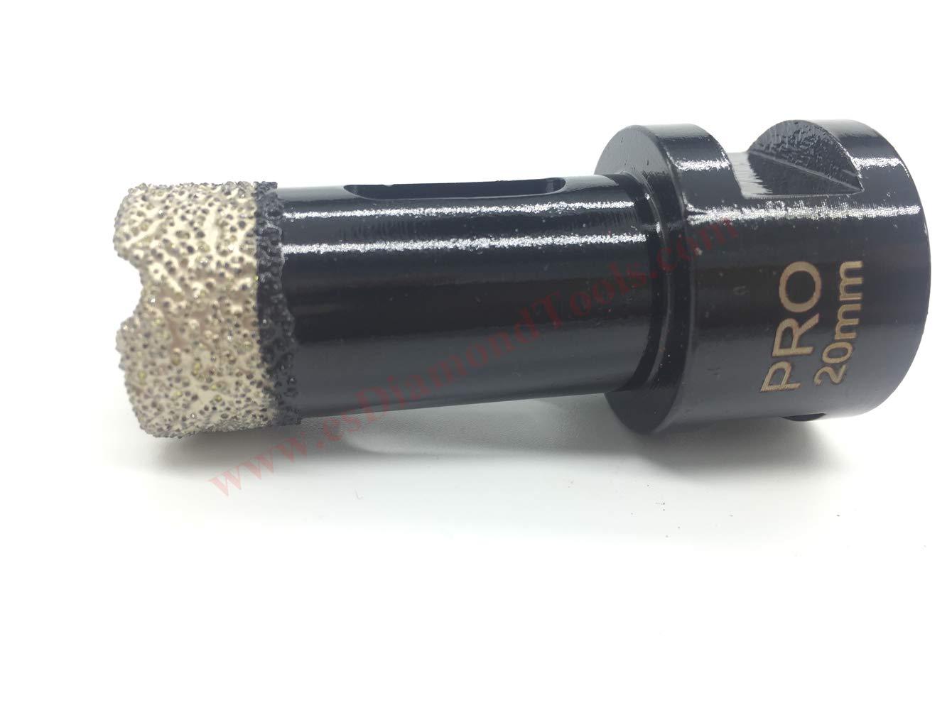 Para amoladora angular M14 perforaci/ón en seco en porcelana no necesita agua azulejos EASTAR brocas de diamante en seco para amoladora angular granito m/ármol Dia.8mm cer/ámica